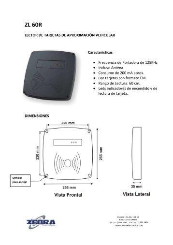 MANUAL LECTOR ZL60R.pdf - Zebra Electronica