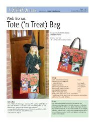 FREE pattern for a matching quilted tote 'n treat bag - McCalls Quilting