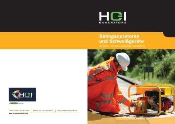 Bahngeneratoren und Schweißgeräte - HGI Generators