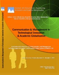 COMMUNICATION and MANAGEMENT in - Wseas.us