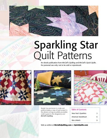 Sparkling Star Quilt Patterns - McCalls Quilting