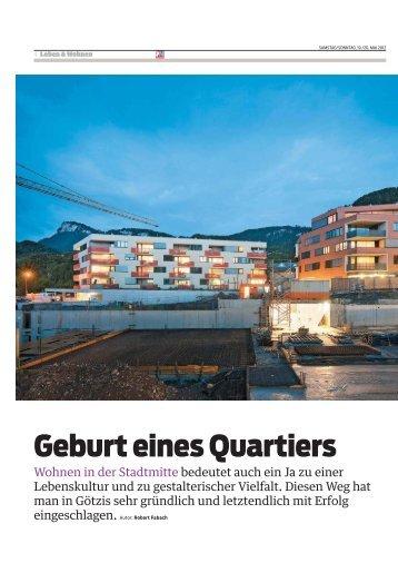 Geburt eines Quartiers: Am Garnmark Götzis - Vision Rheintal