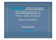 BEE2017 Intermediate Microeconomics 2 Price and product ...