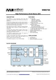 WM8788 - Wolfson Microelectronics plc