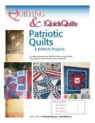 Patriotic Quilts & & BONUS Projects & An Ebook ... - McCalls Quilting