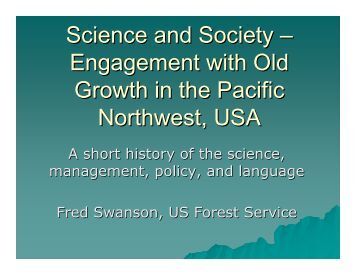 Perspectives on Old Forests from the Pacific Northwest (USA)