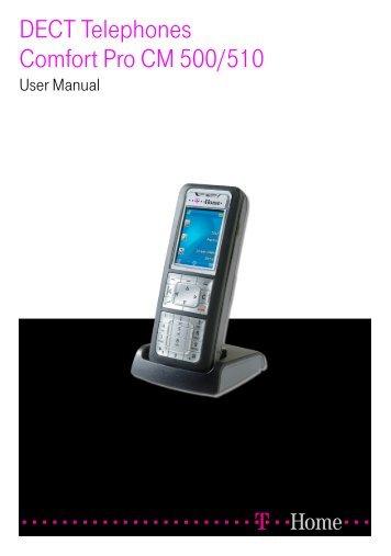 DECT Telephones Comfort Pro CM 500/510 (As of ... - Telekom