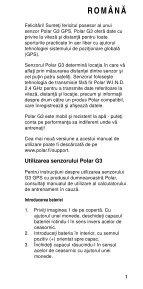 Polar G3 GPS Sensor Manual de utilizare - Page 3