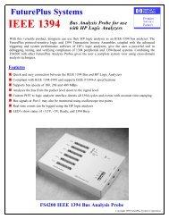 IEEE 1394 - FuturePlus Systems