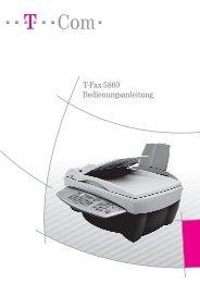 T-Fax 5860 Bedienungsanleitung - Telekom