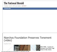 The National Herald - Stavros Niarchos Foundation
