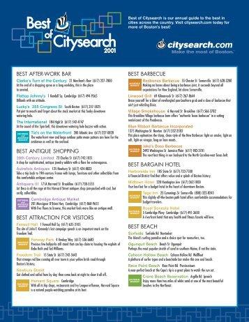 BEST AFTER-WORK BAR BEST ANTIQUE SHOPPING ... - Citysearch