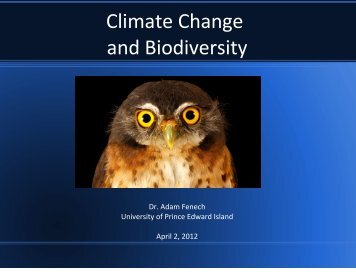Climate Change and Biodiversity - UPEI Projects - University of ...