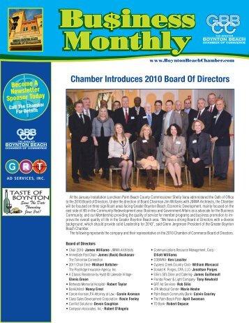 Chamber Newsletter • March 2010 - The Greater Boynton Beach ...