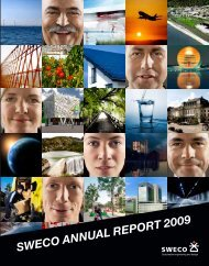 SWECO ANNUAL REPORT 2009
