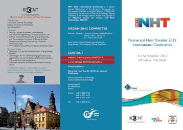 Numerical Heat Transfer 2012 International Conference