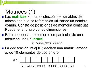 matrices, estructuras