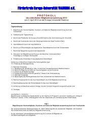 Protokoll der Mitgliederversammlung 2012