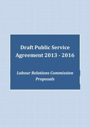 Draft Public Service Agreement 2013 - 2016 - Labour Relations ...