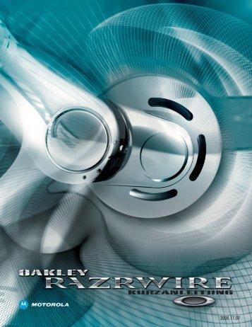 ACHTUNG: Veränderungen am Telefon oder Bluetooth ... - Oakley