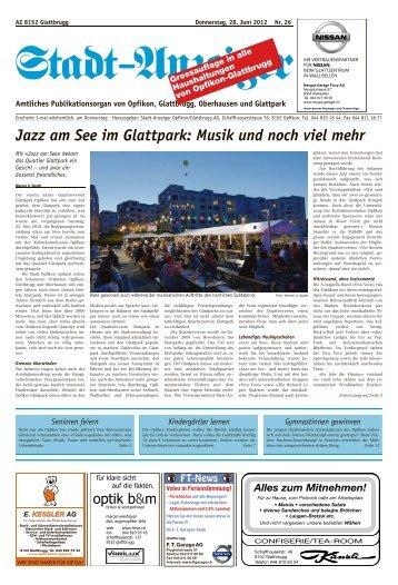 Jazz am See im Glattpark: Musik und noch viel mehr