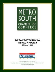 data protection & privacy policy 2010 - Metro South Chamber of ...