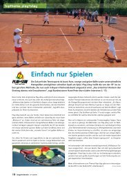 topthema: play+stay - Tennisschule Markus Menzler