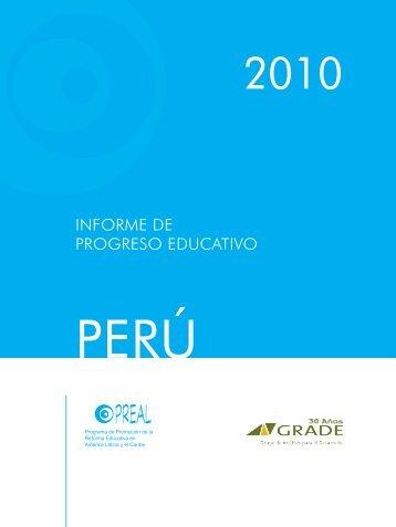 INFORME DE PROGRESO EDUCATIVO - Grupo de Análisis para el ...