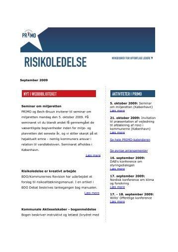 Download nyhedsbrevet for september 2009 - primo