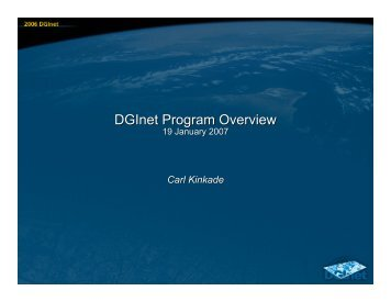 DGInet Program Overview