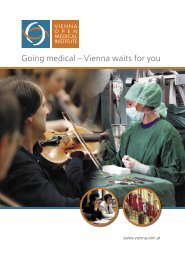 Going medical – Vienna waits for you - Vienna OMI