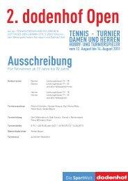 SportWelt 2. dodenhof Open TENNIS - TURNIER DAMEN UND ...