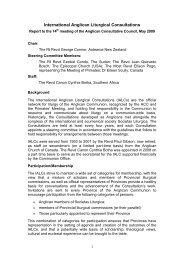 Liturgy - IALC - International Anglican Liturgical Consultations