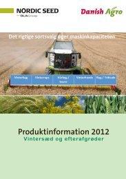 Hent vores produktsortiment 2012 over vintersæd og ... - Danish Agro