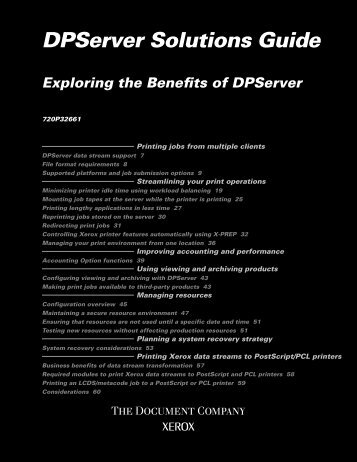 Dpserver Solutions Guide