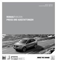 Renault Koleos PReise und ausstattungen