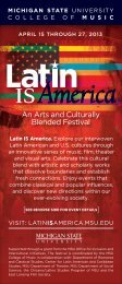 An Arts and Culturally Blended Festival - Center for Latin American ...