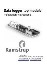 Data logger top module