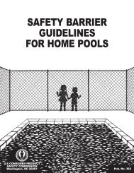 Safety Barrier Guidelines for Home Pools - CPSC