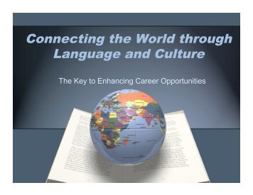Connecting the World through Language and Culture - Network of ...