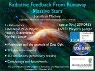 Radiative Feedback From Runaway Massive Stars - The low ...