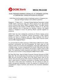 OCBC Premier Banking opens its 15th Premier Centre ... - OCBC Bank