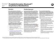 Produktinformation Bluetooth : Empfohlene Mobiltelefone - Siol