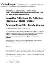 Nouvelles Collections III et Emanuelle Antille - Centre PasquArt