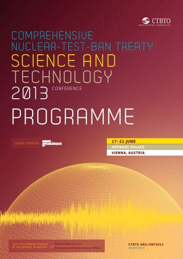 full conference programme (PDF) - Comprehensive Nuclear-Test ...