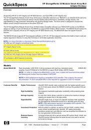 HP StorageWorks 30 Modular Smart Array Multi-Initiator Enclosure
