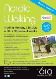 Starting Monday 15th July 6.00 - 7.30pm for 4 weeks - Zing Somerset
