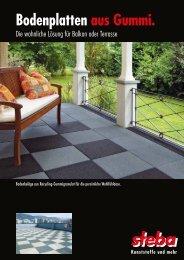 Bodenplatten aus Gummi. - Steba Kunststoffe AG