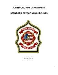 jonesboro fire department standard operating ... - City of Jonesboro