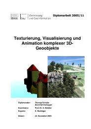 Texturierung, Visualisierung und Animation komplexer 3D ...